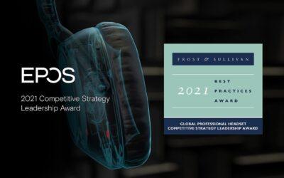 EPOS, reconocido por Frost & Sullivan con el Premio al Liderazgo en Estrategia Competitiva Global 2021